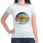 XMusic2 - Three Cairns Jr. Ringer T-Shirt