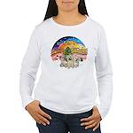 XMusic2 - Three Cairns Women's Long Sleeve T-Shirt