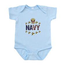 USN Flag Stars Eagle Infant Bodysuit