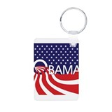 Re-elect Obama Aluminum Photo Keychain