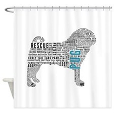 Pug Typography Shower Curtain