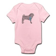 Pug Typography Infant Bodysuit