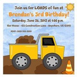 Dump Truck Birthday 5.25 x 5.25 Flat Cards