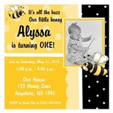 Bumble bee 1st birthday Invitations & Announcements