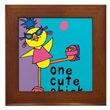 One Cute Chick.png Framed Tile