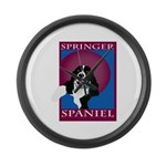 SPRINGERSPANIAL11.png Large Wall Clock