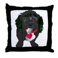 BLACKDOG.png Throw Pillow