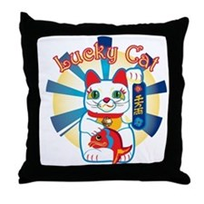 HAPPYCAT1.png Throw Pillow