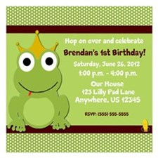 Frog Prince Birthday Invitations