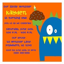 Monster Boy Invitations