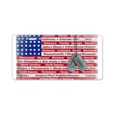Thank You Soldier Dog Tags Aluminum License Plate