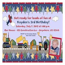 Construction Kids Birthday Invitation Invitations x Invitations