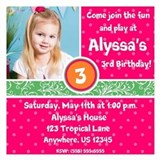 Tropical Fun Birthday Invitation 5.25 x 5.25 Flat