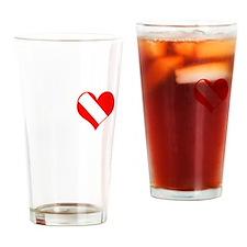 I Love Scuba Steve (white) Drinking Glass