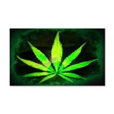Dark Grunge Weed 20x12in Wall Decal