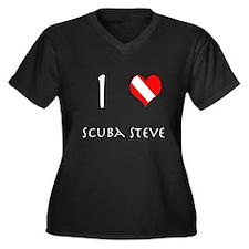 I Love Scuba Steve (white) Plus Size T-Shirt