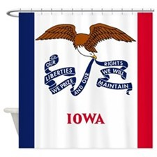 Iowa State Flag Shower Curtain