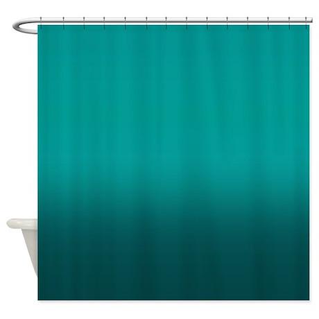 Shades Of Teal Shower Curtain By Kinnikinnicktoo