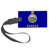 Kansas State Flag Luggage Tag