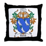 Naish Coat of Arms Throw Pillow