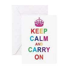 Vintage Chick Keep Calm & Carry On Greeting Ca