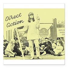 """Action Directe Square Car Magnet 3"""" x 3"""""""