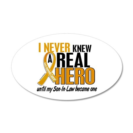 Never Knew a Hero 2 Appendix Cancer 20x12 Oval Wal