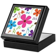 Music Funky Flower Keepsake Box