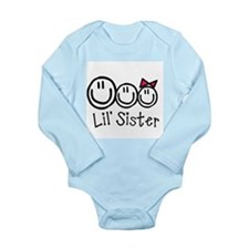 Cute Middle sister of three Long Sleeve Infant Bodysuit