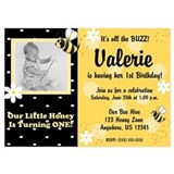 Bumble Bee Girl Birthday Invitation 5x7 Flat Cards