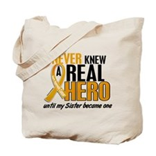 Never Knew a Hero 2 Appendix Cancer Tote Bag