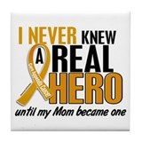 Never Knew a Hero 2 Appendix Cancer Tile Coaster