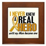 Never Knew a Hero 2 Appendix Cancer Framed Tile