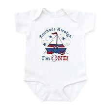 Little Sailboat 1st Birthday Infant Bodysuit