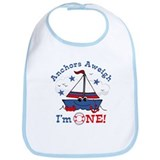Little Sailboat 1st Birthday Bib