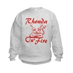 Rhonda On Fire Kids Sweatshirt