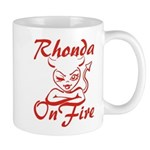 Rhonda On Fire Mug