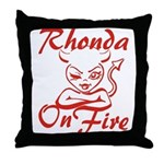 Rhonda On Fire Throw Pillow