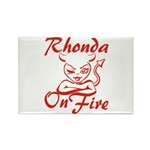 Rhonda On Fire Rectangle Magnet