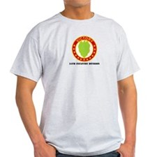 DUI - 24th Infantry Division with Text T-Shirt