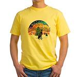 XMusic2-GreatDane (blk-cr) Yellow T-Shirt