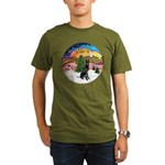 XMusic2-GreatDane (blk-cr) Organic Men's T-Shirt (