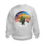 XMusic2-GreatDane (blk-cr) Kids Sweatshirt