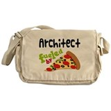 Architect Funny Pizza Messenger Bag