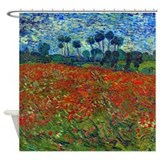 Van Gogh - Poppy Field Shower Curtain