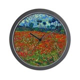 Van Gogh - Poppy Field Wall Clock