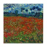 Van Gogh - Poppy Field Tile Coaster