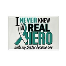 Never Knew a Hero 2 Cervical Cancer Rectangle Magn