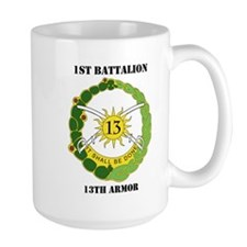 DUI - 1st Battalion, 13th Armor with Text Mug