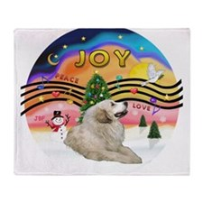 XMusic2-GreatPyrenees 1 Throw Blanket
